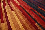 Большой современный ковер оранжево терракотового цвета 250х350см, фото 3
