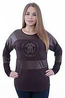 Женская блуза  коричневого цвета 603, фото 1
