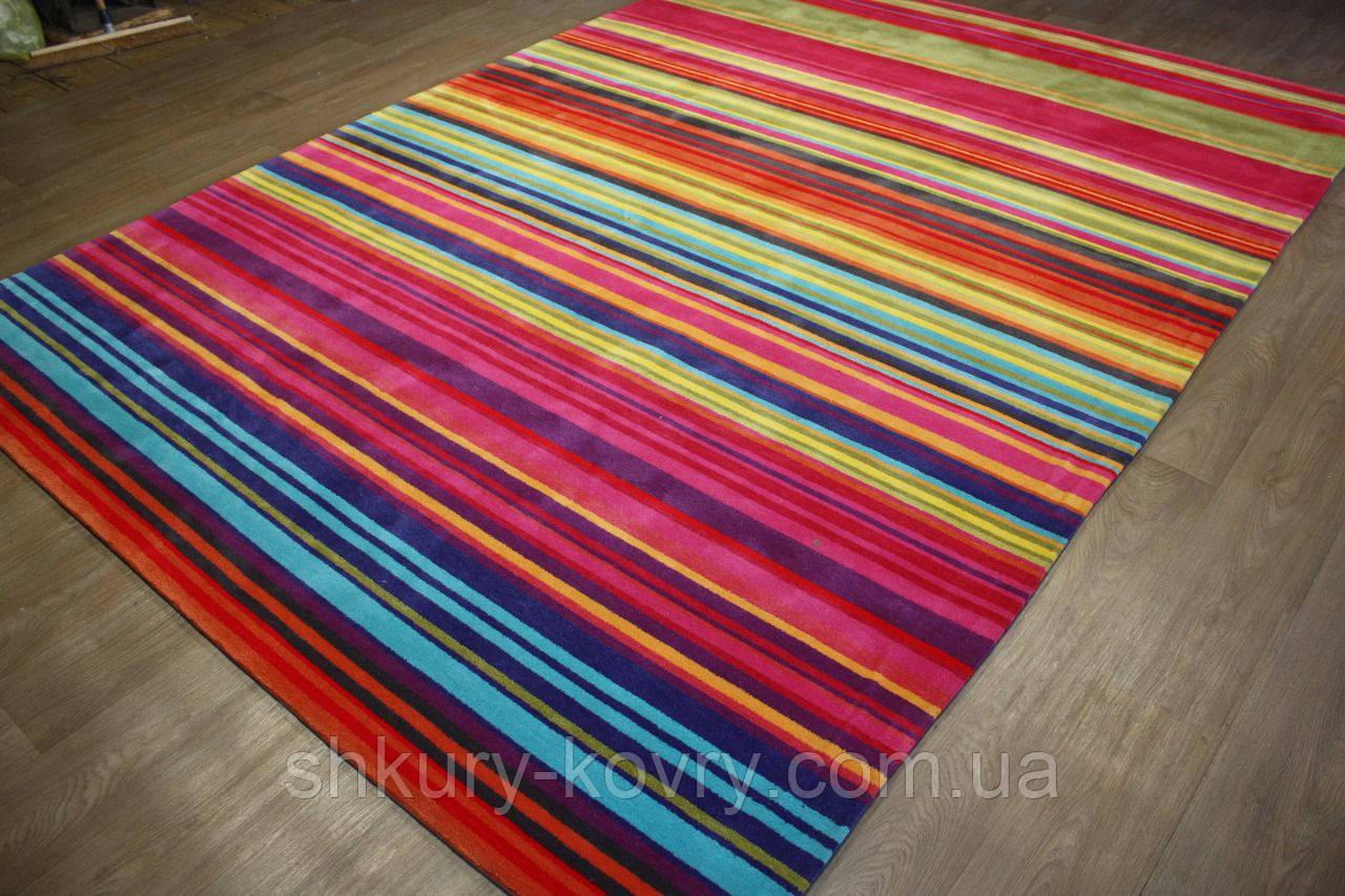 Великий сучасний килим мультиколор 2.5*3.5