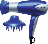Фен для волос Vitalex VT-4002 с ионизацией, 2000 Вт, 2 скорости/3 температурных режима