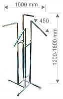 Вешалка 4-х рожк.скошеная с регулировкой высоты
