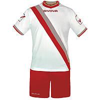 Футбольная форма Givova Kit Trasversal Белый Серый Красный, L e7bad716477