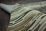 Красивый необычный ковер серо бежевого цвета, фото 4