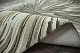 Красивый необычный ковер серо бежевого цвета, фото 5