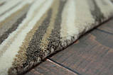 Красивый необычный ковер серо бежевого цвета, фото 6
