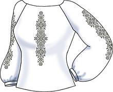 СВЖБ-53. Заготовка Жіноча сорочка лляна біла