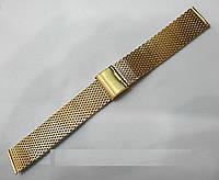 Браслет к любым часам Кольчуга - нержавейка, цвет золото
