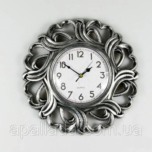 Годинник настінний silver, 26см