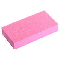 Блок шлифовальный 2-х стор. 6,8x3,5 см розовый