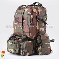 Тактический рюкзак 45-60 л Woodland