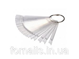 Типсы веер 50 шт на кольце прозрачные