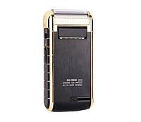 Электробритва аккумуляторная Gemei GM 9800, Вт, триммер для окантовки, зеркало, сменная сетка