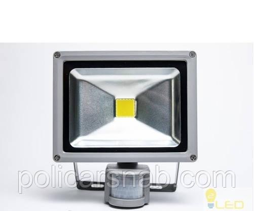 Прожектор светодиодный LED 20W 6500K с датчиком