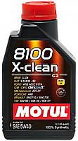 Моторное масло синтетическое Motul 8100 X-Clean 5W40, 2л