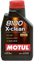 Масло синтетическое моторное для автомобилей Motul 8100 X-Clean 5W30, 1л