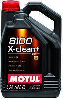 Моторное масло синтетическое Motul 8100 X-Clean+ 5W30, 5л