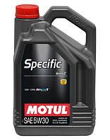 Моторное масло синтетическое Motul Specific Dexos2 GM-Opel 5W30, 5л