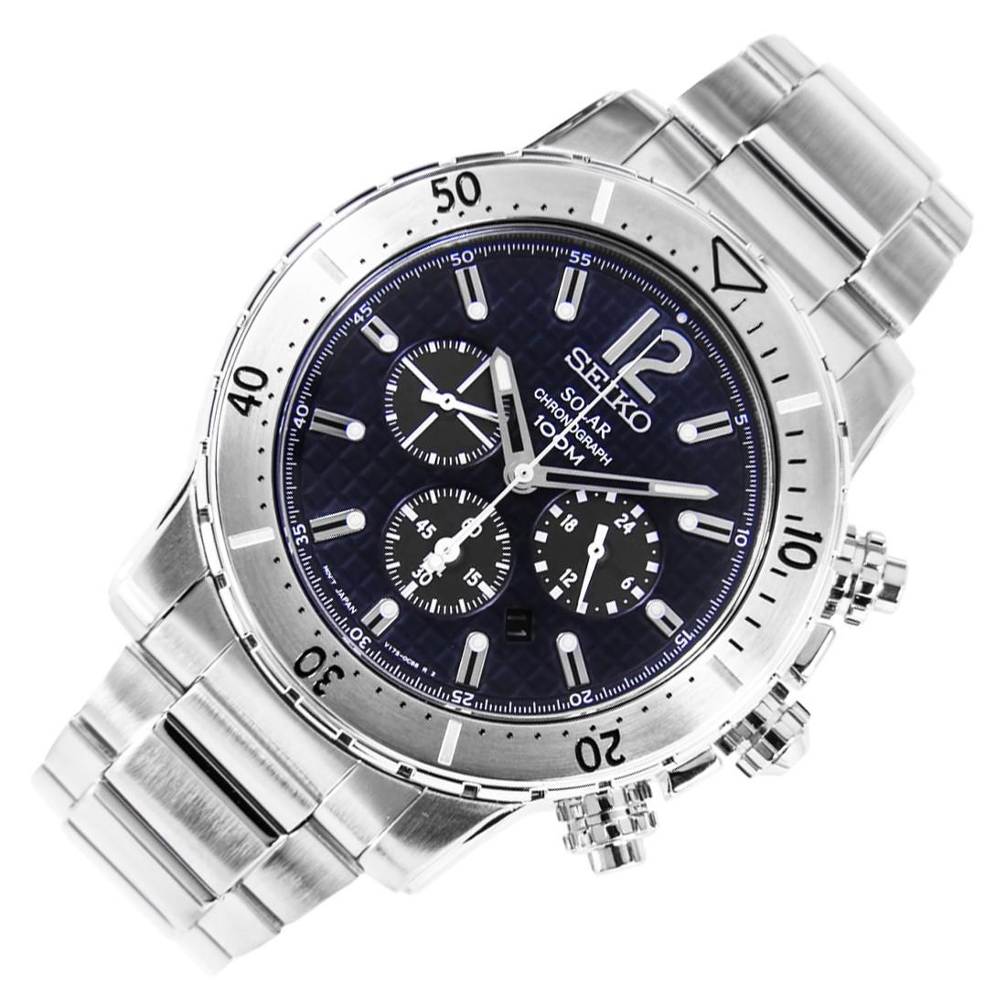 Часы Seiko SSC221P1 хронограф SOLAR
