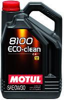 Синтетическое моторное масло для автомобилей Motul 8100 Eco-Clean 0W30, 5л