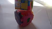 "Конструктор ""Кубик-логика Цифры"" ,1+,  75*75*75мм, Фламинго.Пластиковый конструктор с крупными елементами детс"