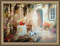 Картина Возле дома. 500х700мм №396
