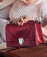 Женская сумка DIOR DIORAMA METALLIC CLARET (2298)