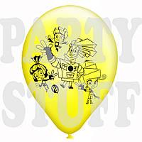 """Воздушные шары пастель ассорти Фиксики 12""""(30 см), 100 шт"""