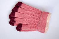 Розовые перчатки для девочки
