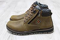 Зимние ботинки Ecco оливкового цвета