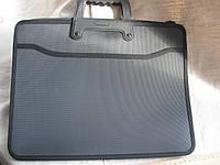 Папка-портфель для документов А4 на молнии 2 отделения с наружным карманом черная, №9912 (3090-7)