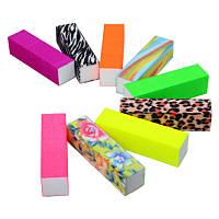 Блок шлифовальный 4-сторонний цветной (в ассортименте)