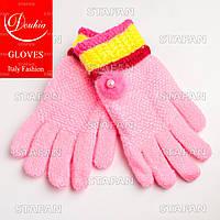 Шерстяные перчатки с начёсом на девочку Douhia DP05-1-R