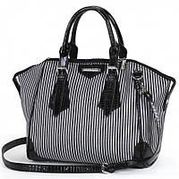 Женская сумка Dolly 467 модная стильная в полоску в комплекте ремешок