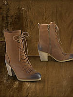 Ботинки Mesa Leather Lace-Up Bootie Ralph Lauren Ральф Лорен