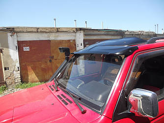 Козырек лобового стекла тюнинг Mitsubishi Pajero Wagon 2