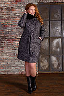 Пальто зимнее женское  с мехом