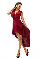 """Стильное   платье """" Хвост """", цвет марсала. Ар- 8923/74"""