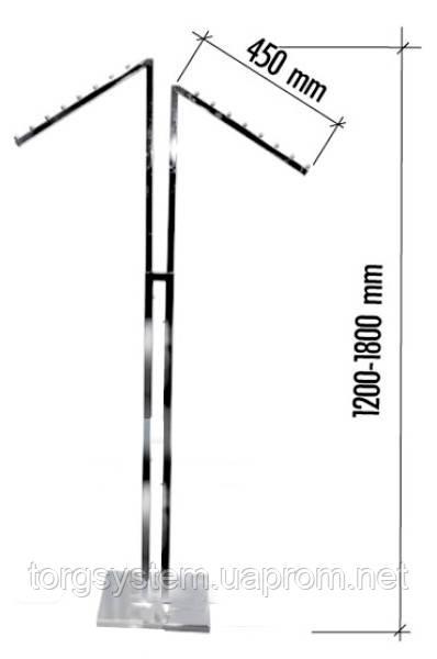 Вешалка напольная скошенная с регулировкой высоты