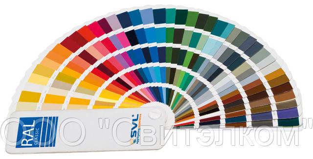 Возможные цвета корпуса LINEA 50 в палитре RAL