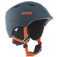 Шлем лыжный сноубордический детский Uvex AIRWING 2 PRO TITATIUM темно-серый