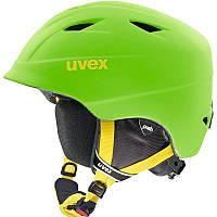 Шлем лыжный сноубордический детский Uvex AIRWING 2 PRO салатовый