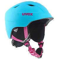 Шлем лыжный сноубордический детский Uvex AIRWING 2 PRO голубой