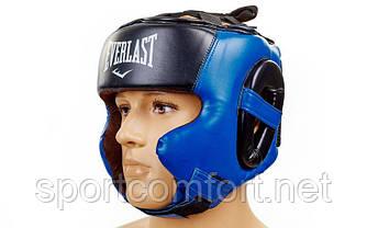 Шолом боксерський в мексиканському стилі Elast Flex( поліуретан ) M, L, XL чорно-синій