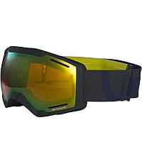 Очки лыжные сноубордические унисекс WED'ZE BONES 500 черные