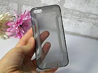 Чехол Iphone 5 / 5S / SE силикон TPU серый