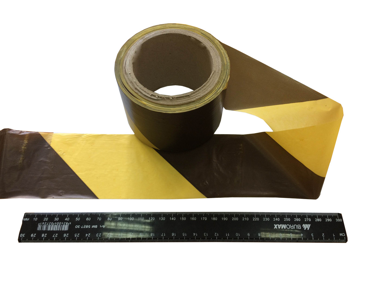 "Стрічка огороджувальна ""зебра"" (жовто-чорна) 75мм*100м"