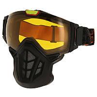 Очки с маской лыжные сноубордические унисекс WED'ZE LAND 700 черные