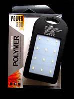 Портативный аккумулятор  POWER BANK SOLAR+LED 10800mAh UKC