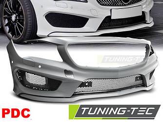 Передний бампер тюнинг обвес Mercedes CLA W117 стиль AMG