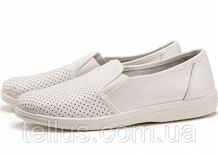 Туфли рабочие мужские белые кожаные, фото 1